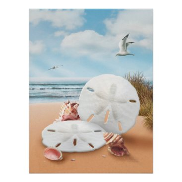 "Beach Themed Alan Giana ""Sand Dollars"" Poster"