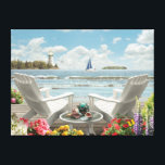 """Alan Giana &quot;Summer Escape&quot; Canvas Print<br><div class=""""desc"""">&quot;Summer Escape&quot; by Alan Giana brings you to a special place by the water where you and someone special can pass the time away.</div>"""