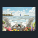 "Alan Giana &quot;Summer Escape&quot; Canvas Print<br><div class=""desc"">&quot;Summer Escape&quot; by Alan Giana brings you to a special place by the water where you and someone special can pass the time away.</div>"
