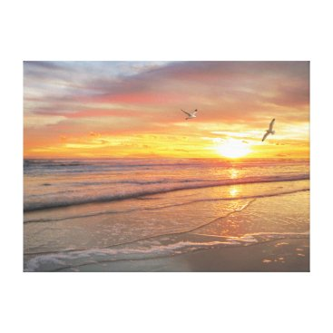 "Beach Themed Alan Giana ""Sunrise Shore"" Canvas Print"