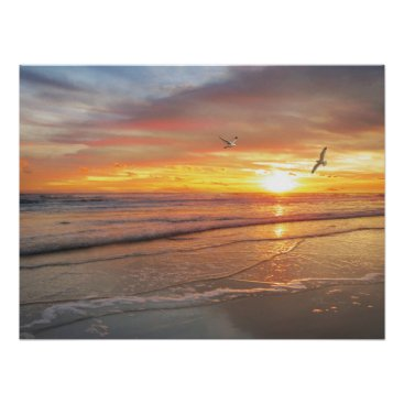 "Beach Themed Alan Giana ""Sunrise Shore"" Poster"