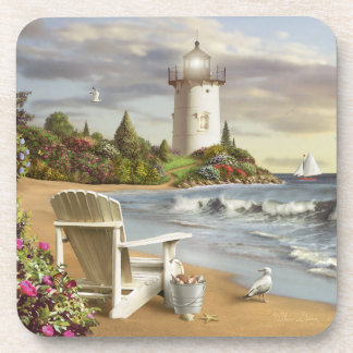 "Alan Giana ""The Perfect Place"" Plastic Coasters"