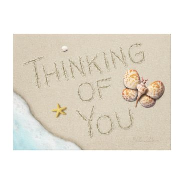 "Beach Themed Alan Giana ""Thinking of You"" Canvas Print"