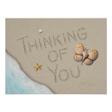 "Beach Themed Alan Giana ""Thinking of You"" Poster"