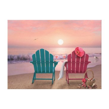 "Beach Themed Alan Giana ""Tranquility 3"" Canvas Print"
