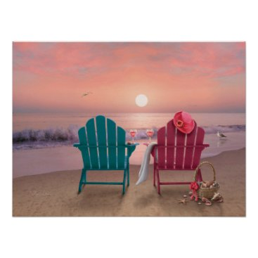 "Beach Themed Alan Giana ""Tranquility 3"" Poster"
