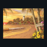 """Alan Giana &quot;Tropical Love&quot; Canvas Print<br><div class=""""desc"""">Is it the end,  or is it the beginning,  of a love-filled tropical day in paradise? Share this special moment as you view &quot;Tropical Love&quot; by artist Alan Giana.</div>"""