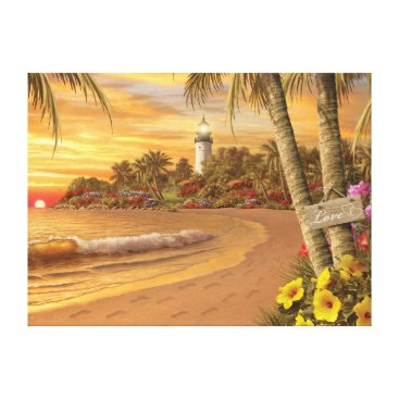 "Beach Themed Alan Giana ""Tropical Love"" Canvas Print"