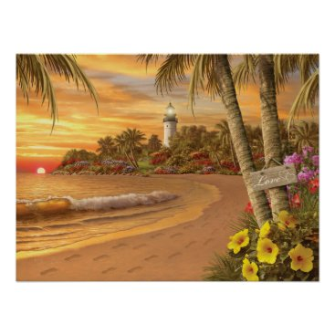 "Beach Themed Alan Giana ""Tropical Love"" Poster"
