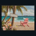"""Alan Giana &quot;Welcome to Paradise&quot; Poster<br><div class=""""desc"""">&quot;Welcome to Paradise&quot; by artist Alan Giana. Feel the tropical breeze as you make your way to your private oasis by the sea.</div>"""