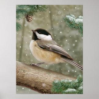 "Alan Giana ""Winter Chickadee"" Poster"