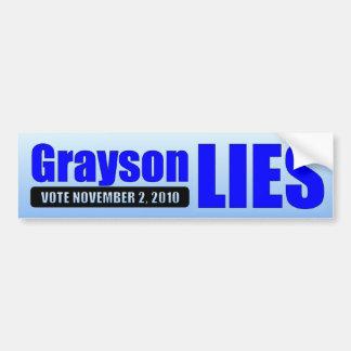 Alan Grayson Lies - Vote 11/02/10 Car Bumper Sticker