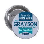 Alan Grayson para el presidente Pins