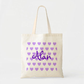 Alan in Purple Tote Bag
