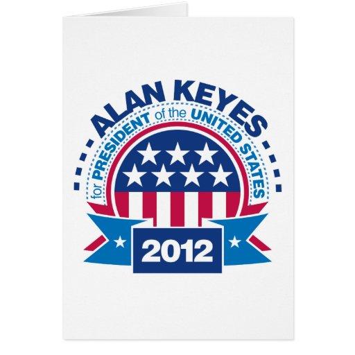 Alan Keyes for President 2012 Card