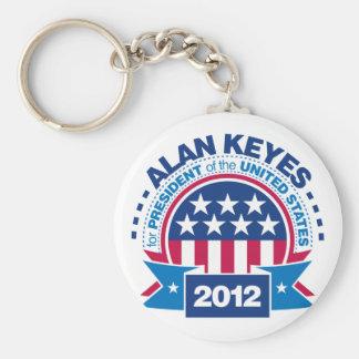 Alan Keyes for President 2012 Keychain