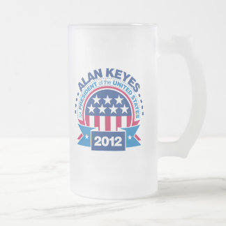 Alan Keyes para el presidente 2012 Taza De Cristal