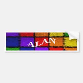 ALAN (male names) Bumper Sticker