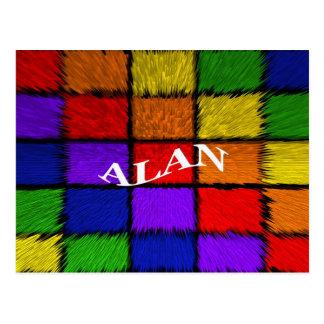 ALAN (male names) Postcard