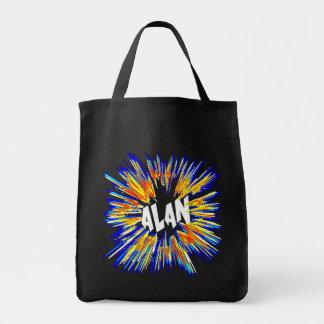 Alan Name Art Tote Bag