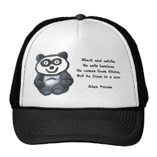 Alan Panda, Black and white,He eats bamboo,He c... Trucker Hat