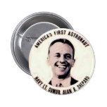 Alan Shepard - botón Pins