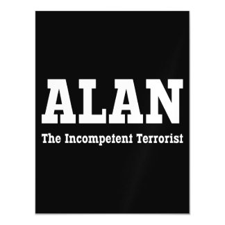 Alan - The Incompetent Terrorist Magnetic Card
