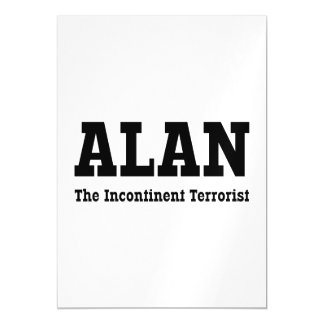 Alan - The Incontinent Terrorist Magnetic Card