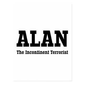 Alan - The Incontinent Terrorist Postcard