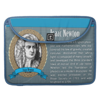 Alan Turing and Isaac Newton laptop sleeve Sleeves For MacBooks