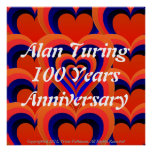 Alan Turing Love Poster