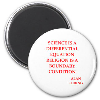 alan TURING quote 2 Inch Round Magnet