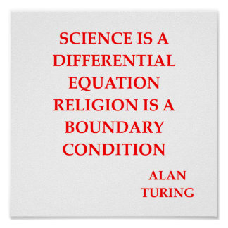alan TURING quote Poster