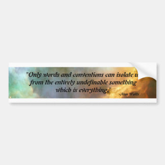 alan watts quote bumper sticker