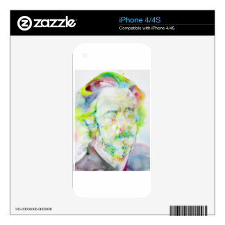 alan watts - watercolor portrait skins for iPhone 4S