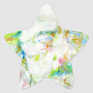 alan watts - watercolor portrait star sticker