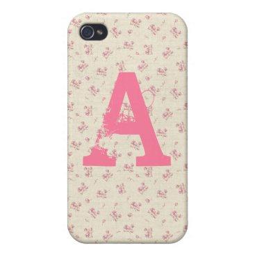 Beach Themed Alana: Beach Rose Print iPhone 4 Case