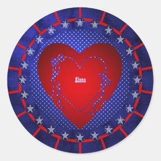Alana Round Sticker