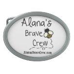 Alana's Brave Crew Belt Buckel Oval Belt Buckle