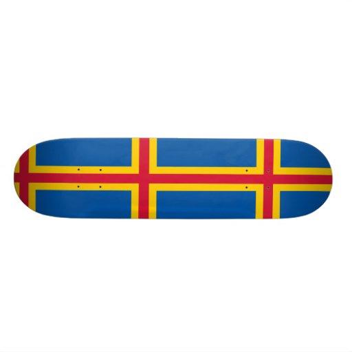 Aland, bandera de Finlandia Patin