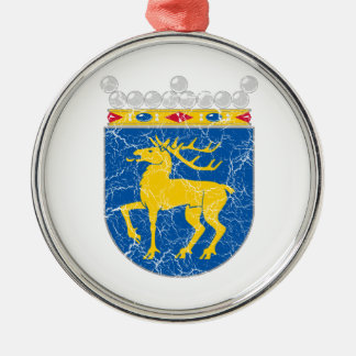 Aland Coat Of Arms Round Metal Christmas Ornament
