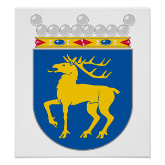 Aland Coat Of Arms Poster
