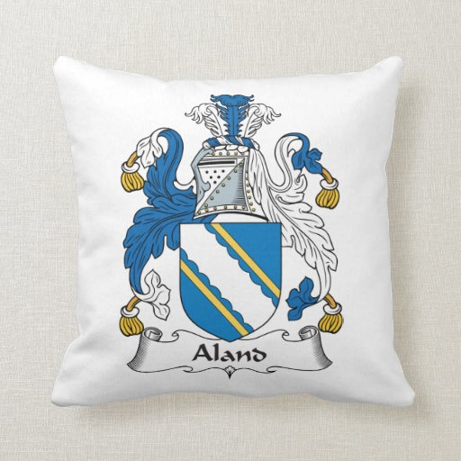 Aland Family Crest Pillows