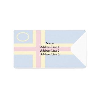 Åland, Finland flag Label