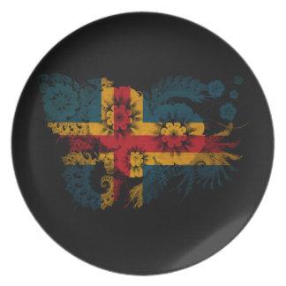 Aland Flag Plate
