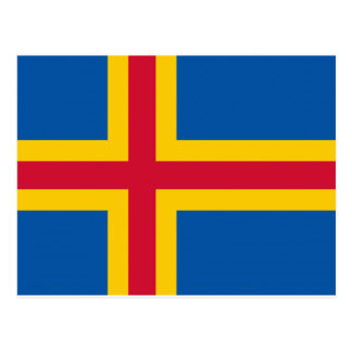 Aland Flag Postcard