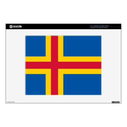 """Åland Islands Flag 12"""" Laptop Decals"""