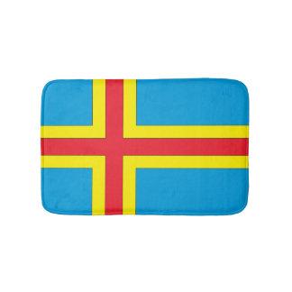 Aland Islands Flag Bathroom Mat