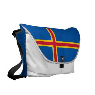 Aland Islands Flag Messenger Bag