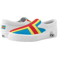 Aland Islands Flag -.png Printed Shoes